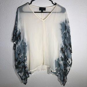 Revolve x Akiko sheer butterfly style sleeve top